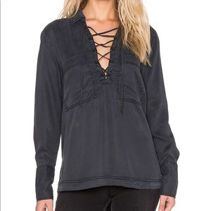 Free People Under Your Spell Lace Up Blouse